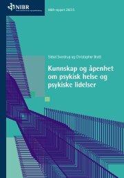 Kunnskap og åpenhet om psykisk helse og psykiske lidelser