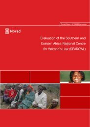 Evaluation of the Southern and Eastern Africa Regional Centre for ...