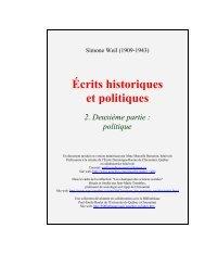 Politique - Les Classiques des sciences sociales - UQAC