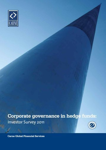 Corporate governance in hedge funds