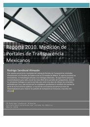Reporte 2010 Medición de Portales de Transparencia Mexicanos