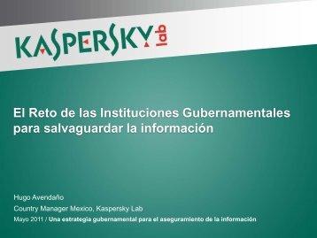 El Reto de las Instituciones Gubernamentales para salvaguardar la información