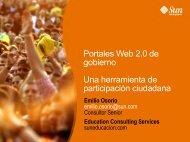 Portales Web 2.0 de gobierno Una herramienta de participación ciudadana