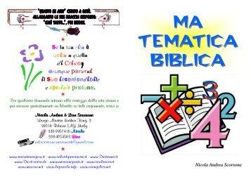 TEMATICA BIBLICA