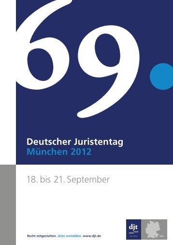 Programmheft 69. djt - 69. Deutscher Juristentag