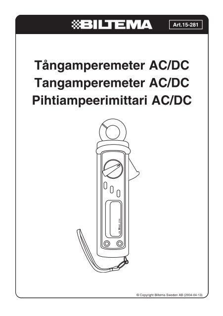 Tångamperemeter AC DC Tangamperemeter AC DC Pihtiampeerimittari AC DC 26e4867a40ec5