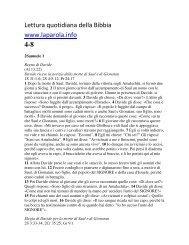 Lettura quotidiana della Bibbia www.laparola.info 4-8