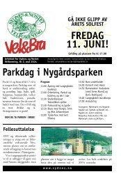 FREDAG 11 JUNI! Parkdag i Nygårdsparken