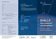 11. Forum Katastrophenvorsorge Risiko 2.0 Neuer Umgang mit alten ...
