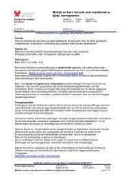 Mottak av barn henvist som medisinsk ø- hjelp barneposten