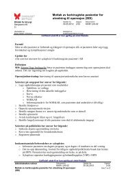 Mottak av karkirurgiske pasienter for utredning til operasjon (SDI)