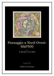 Passaggio a Nord-Ovest S&P500