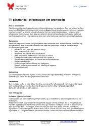 Informasjon om bronchiolitt - Sykehuset Østfold