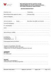 Behandlingskontrakt for pasienter innlagt v/Områdedekkende enhet ...