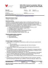 CVK, innleggelse, stell, obsrevasjon, seponering - Sykehuset Østfold