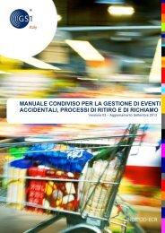 manuale condiviso per la gestione di eventi accidentali ... - Indicod-Ecr