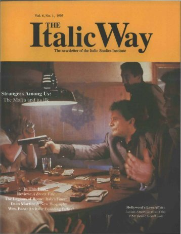 The newsletter of the Italic Studies Institute