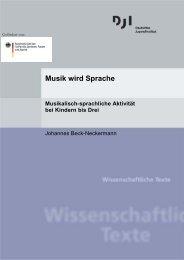 Musik wird Sprache - Deutsches Jugendinstitut  e.V.