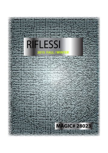 Riflessi 2015 Fall & Winter Collection