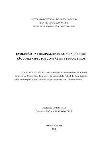 universidade federal de santa catarina - Prof. Flávio da Cruz