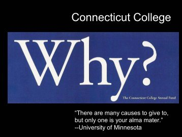 Download a pdf copy of the Connecticut College Fund's great