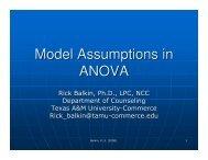 Model Assumptions in ANOVA