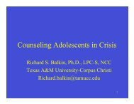 Counseling Adolescents in Crisis