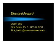Ethics and Research