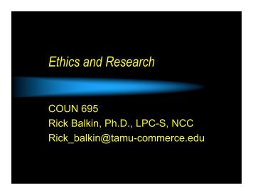 research methodology ethics