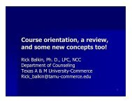 Course orientation a review and some new concepts too!