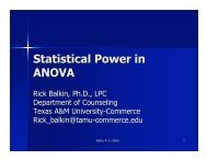 Statistical Power in ANOVA