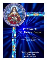 Welcome to St Therese Parish