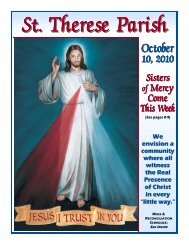 St Therese Bulletin for October 10 2010 color.pub