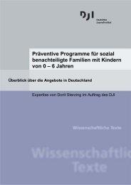 Präventive Programme für sozial benachteiligte Familien mit  Kindern