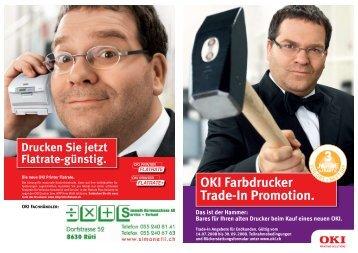 OKI Farbdrucker Trade-In Promotion.