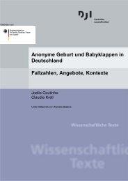 Anonyme Geburt und Babyklappen in Deutschland Fallzahlen - DJI