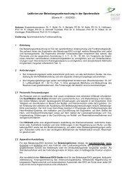 Leitlinien zur Belastungsuntersuchung in der Sportmedizin - DGSP