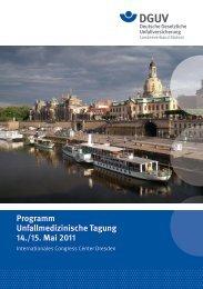 Unfallmedizinische Tagung - Deutsche Gesetzliche ...