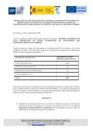 RESOLUCIÓN DE ADJUDICACION DEL CONTRATO DE ... - IIS La Fe