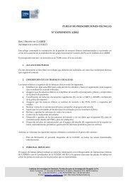 Pliego de Prescripciones Técnicas - Instituto de Investigación ...