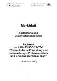 Merkblatt Fortbildung und Qualifikationsnachweis Fachkraft ... - DGGT