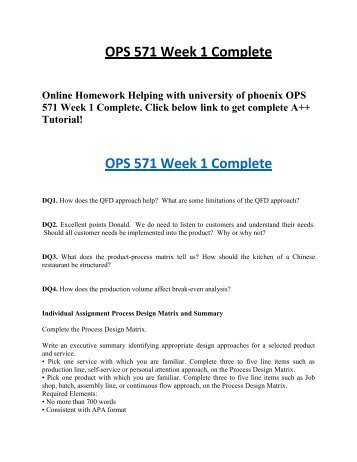 ops 571 week 5 summary Ops/571 week 5 submitted by: week 5 project manager email ops 571 ops 571 week 5 project management proposal ops/571 week 2 ops 571.