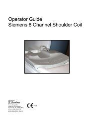 Operator Guide Siemens 8 Channel Shoulder Coil