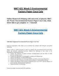 etop analysis of coca cola