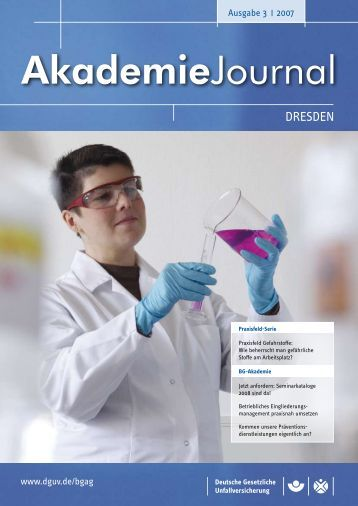 Ausgabe 3/2007 als PDF - Deutsche Gesetzliche Unfallversicherung