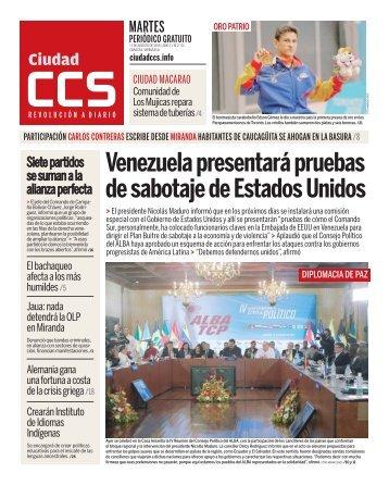 Venezuela presentará pruebas de sabotaje de Estados Unidos