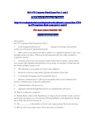 BUS 475 Capstone Final Examination Part 1/shoptutorial