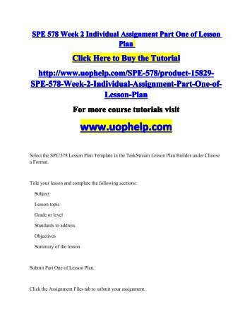 spe 578 complete class Uoptutorial is your one stop shop for bus 475 and mgt 350 final exam study guide.