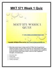 MKT 571 Week 1 Quiz  UOP Material.pdf