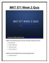 MKT 571 Week 2 Quiz  UOP Material.pdf